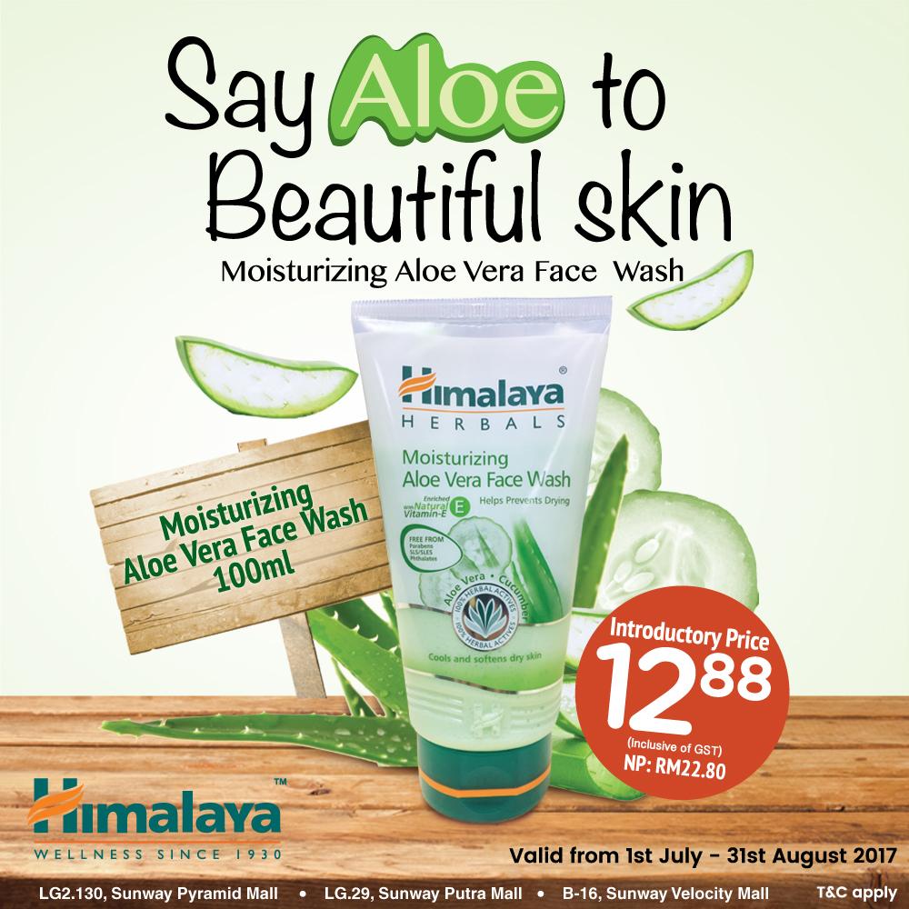 Moisturizing Aloe Vera Face Wash (100ml) for only RM12.88