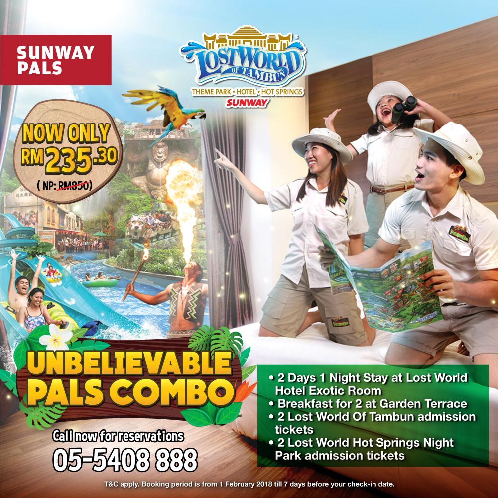 Sunway Pals Combo Package at Lost World Of Tambun