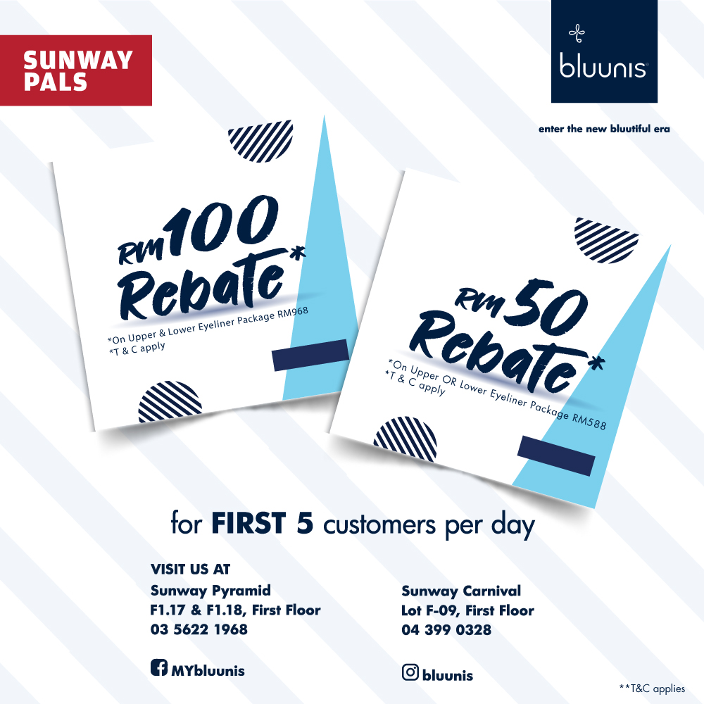 Up to RM100 rebate