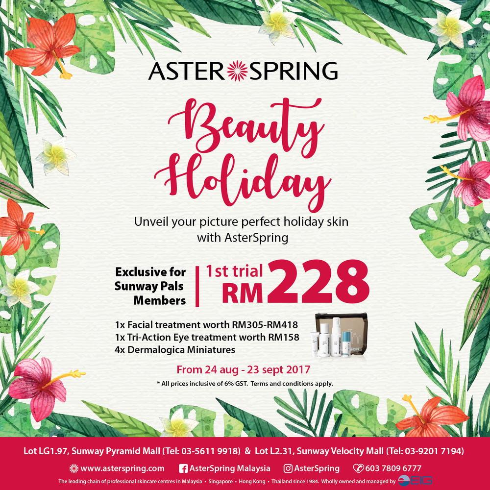 AsterSrping's First Trial Facial at RM228 only