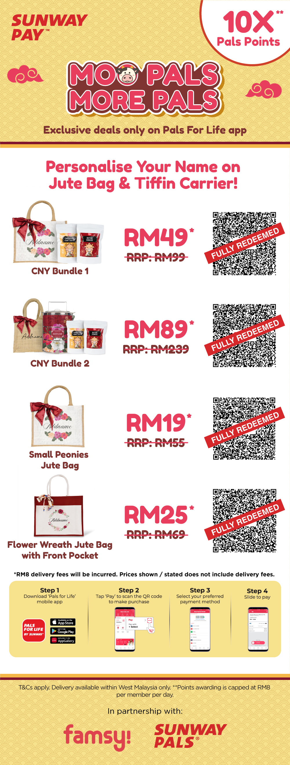 10X Pals Points & Special Price on Personalised CNY Items