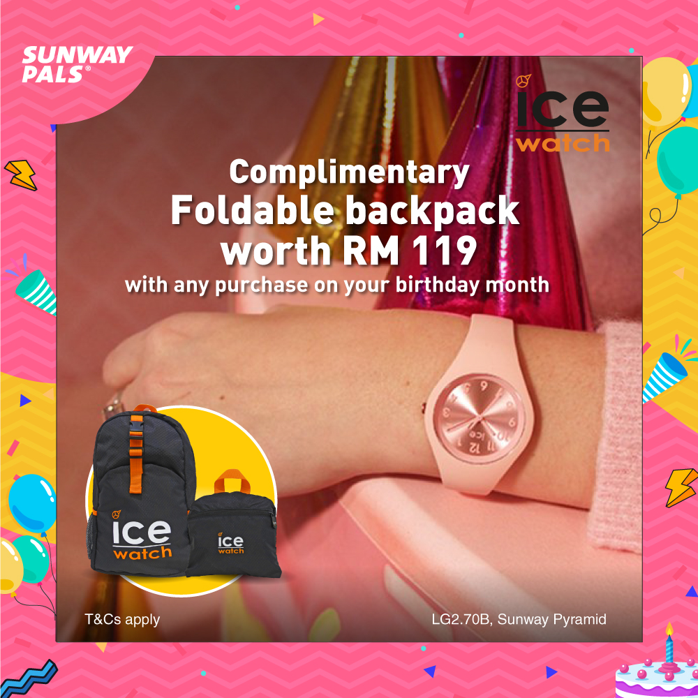 FREE Foldable Backpack worth RM119