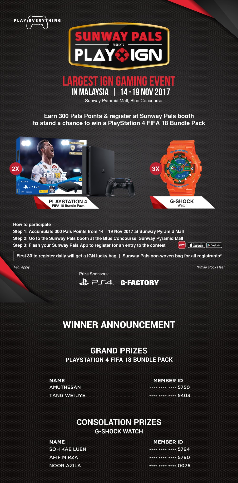 Sunway Pals IGN event