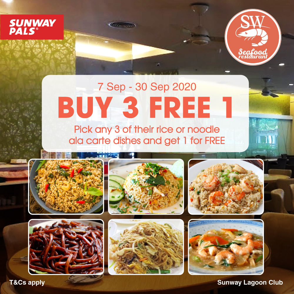Buy 3 Free 1 Ala Carte Dishes