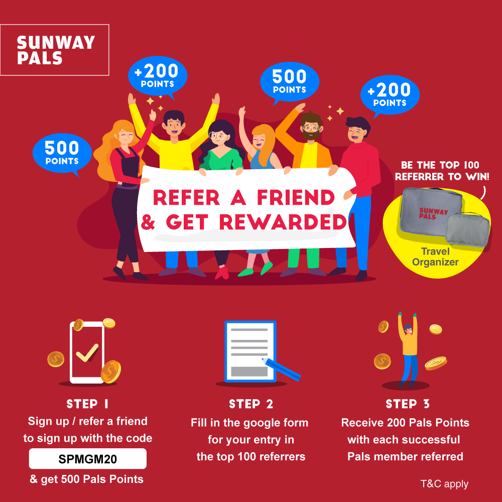 Refer A Friend To Get 200 Pals Points & Win A Travel Organizer