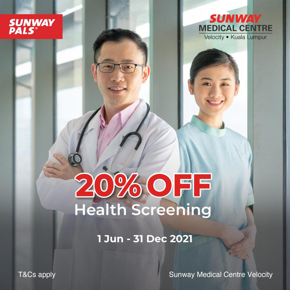 20% OFF Health Screening Packages
