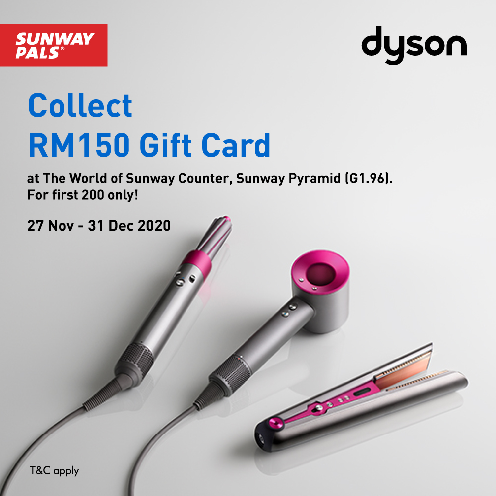 FREE RM150 Dyson Gift Card