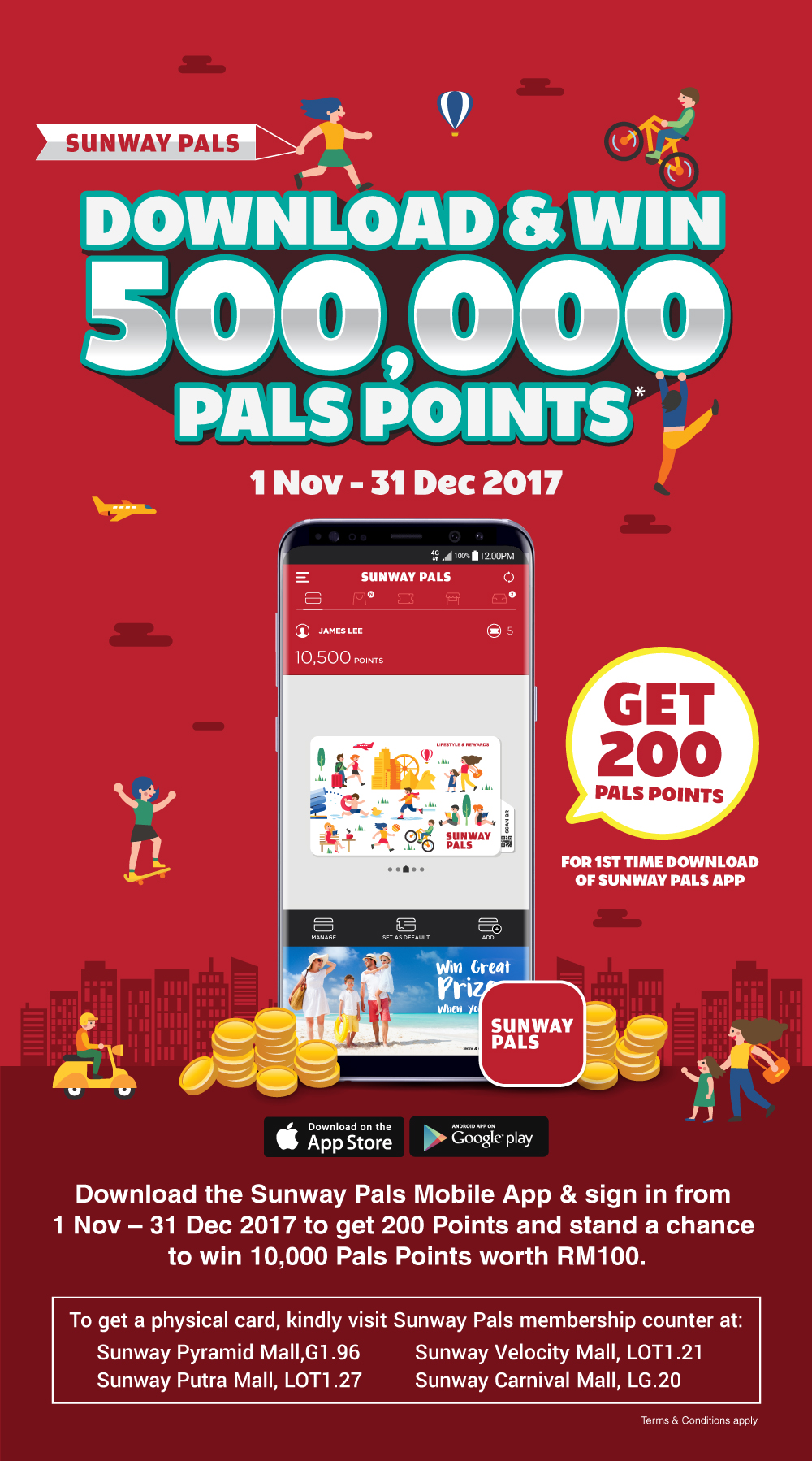 Download & Win 500,000 Pals Points