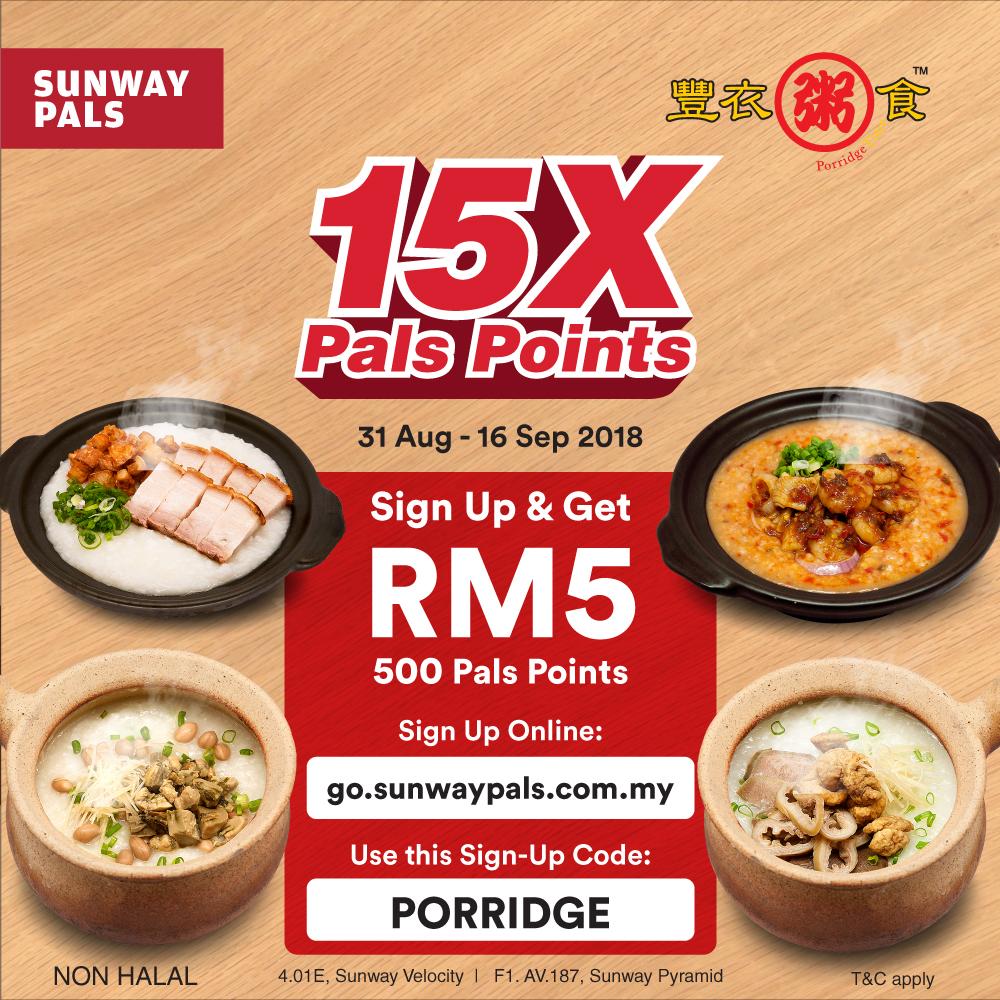 15x Pals Points storewide