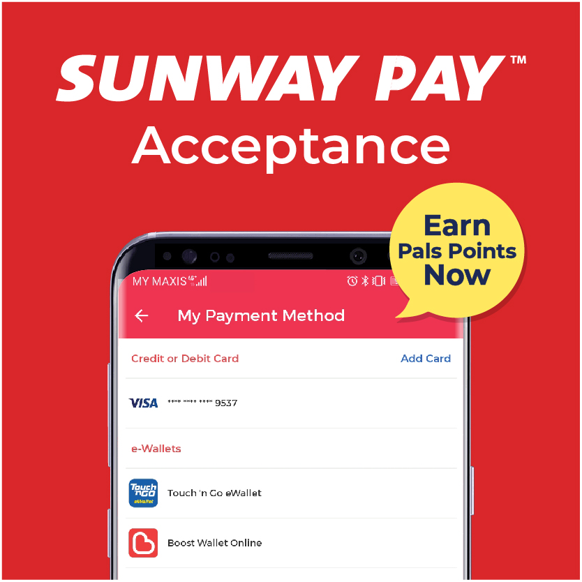 Go cashless with Sunway Pay!