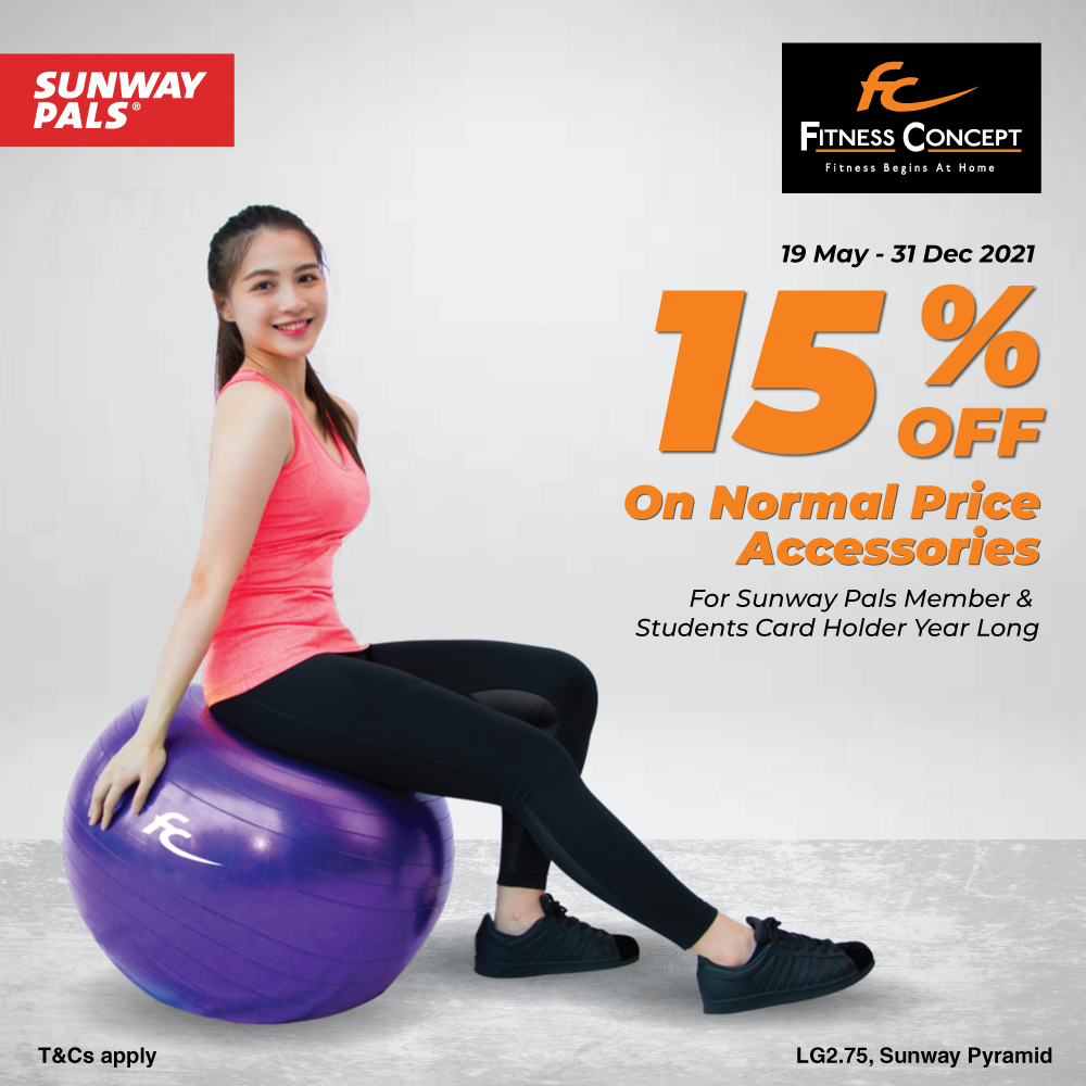 15% OFF for Sunway Pals & Students