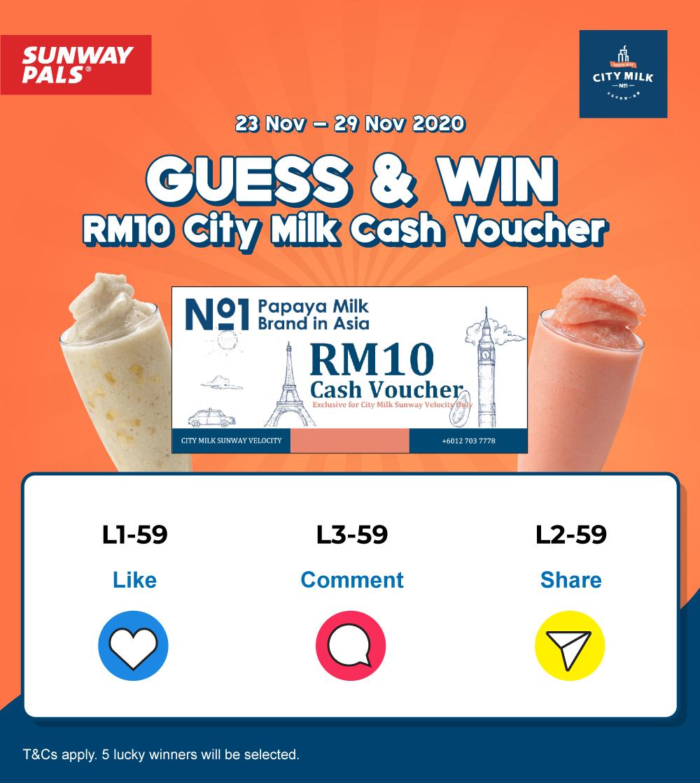 City Milk RM10 Cash Voucher Giveaway!