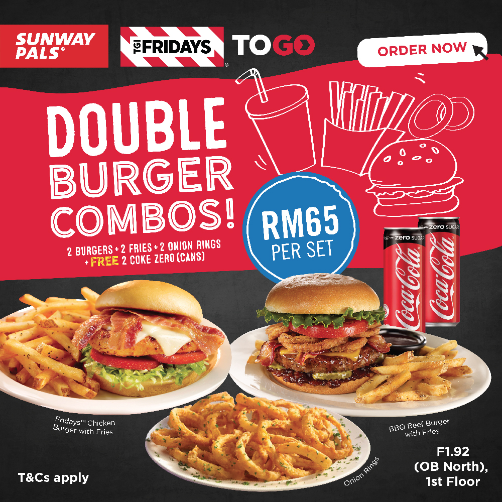 Double Burger Combos at RM 65 Only