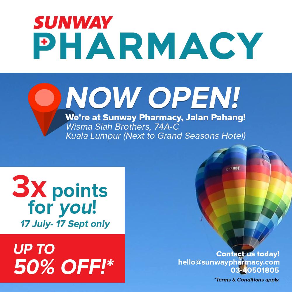 Sunway Pharmacy, Jalan Pahang Opening