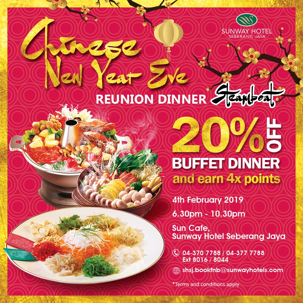 4x Pals Points + 20% off on CNY Steamboat/Set Dinner