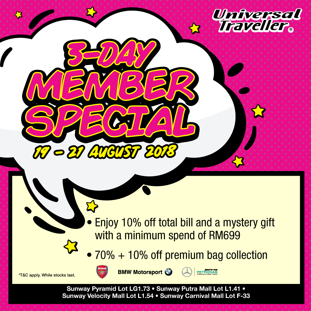 3 Days Member Special