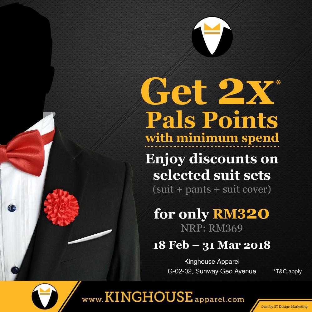 Get 2x Points + Suit Set Promotion