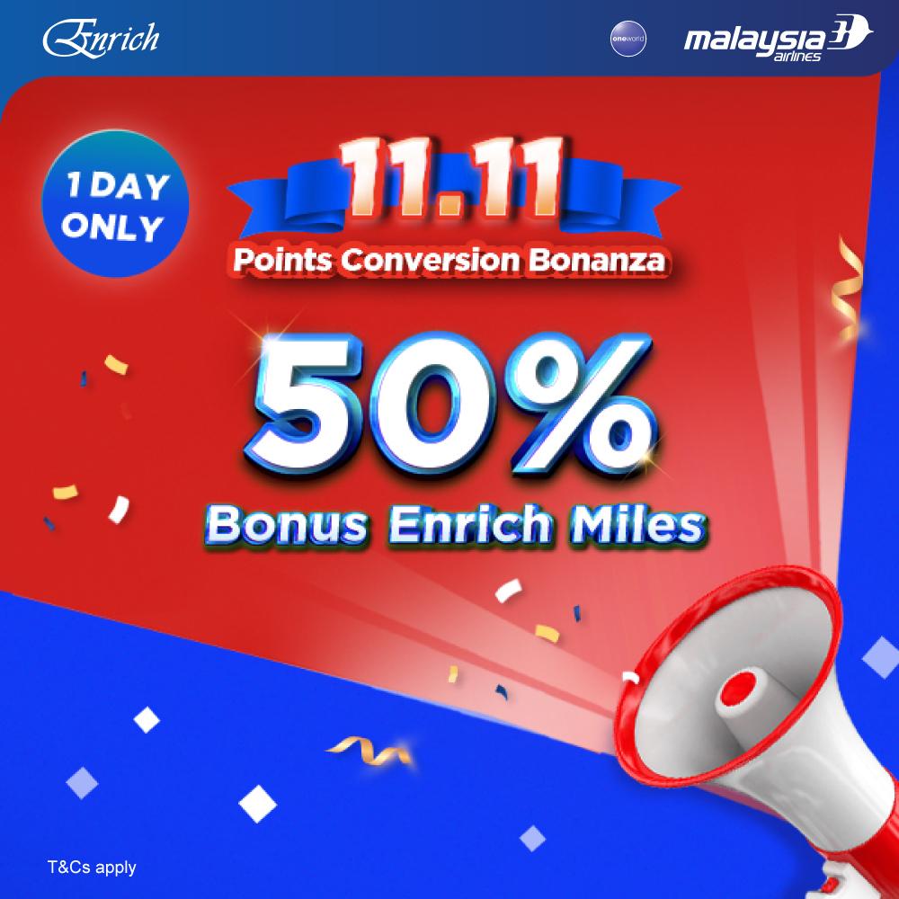 Convert & Get 50% Bonus Miles