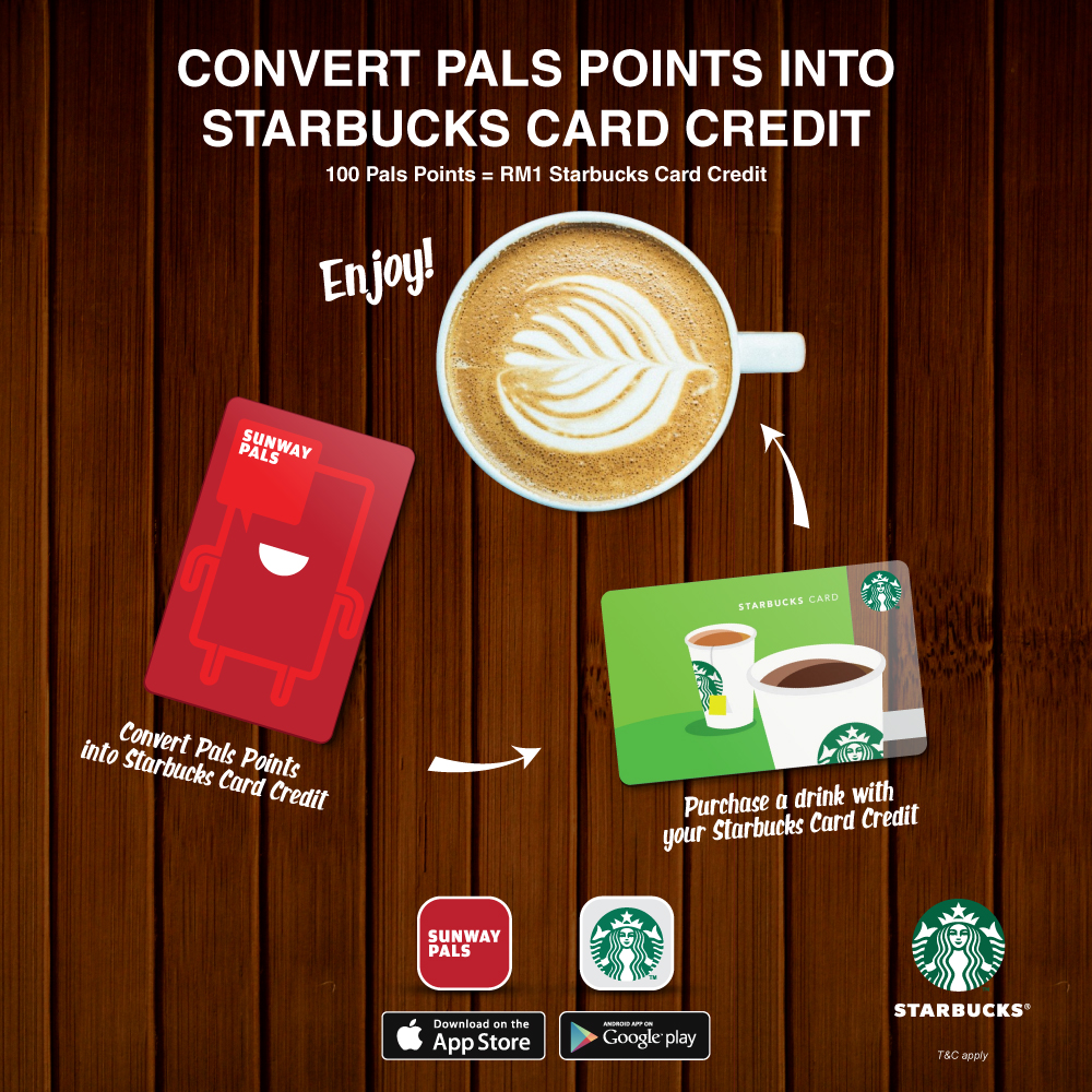 Convert Pals Points into Starbucks Card Credit