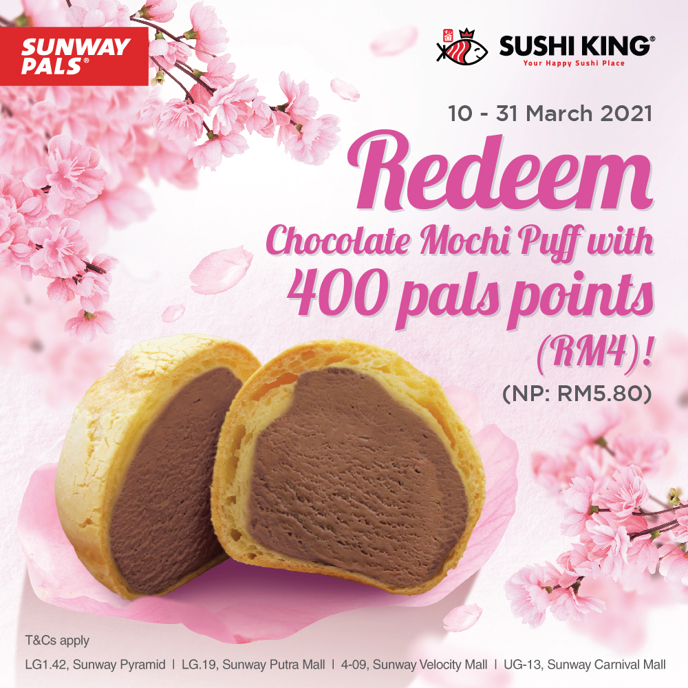 Chocolate Mochi Puff for RM4!