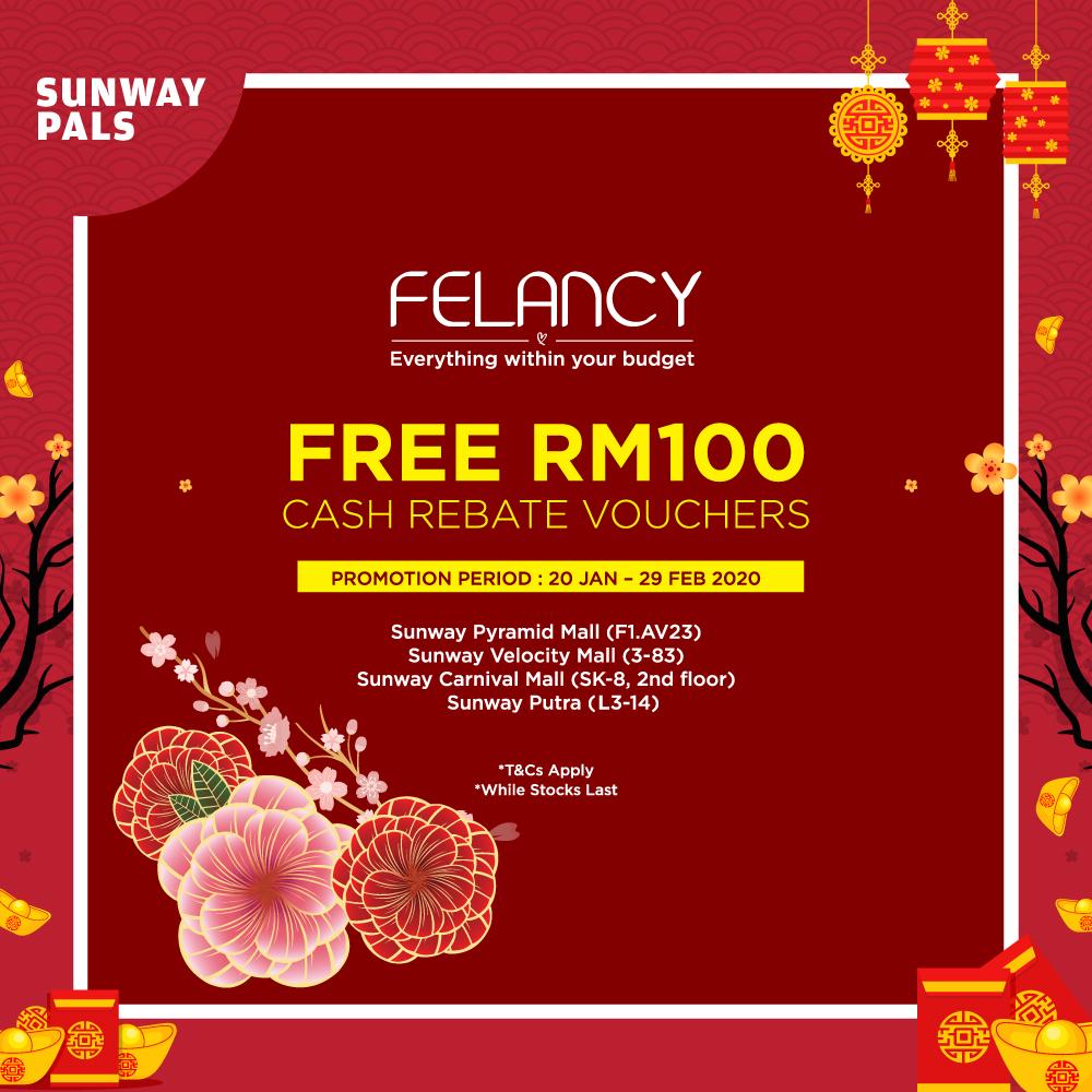 FREE RM100 Cash Rebate Voucher