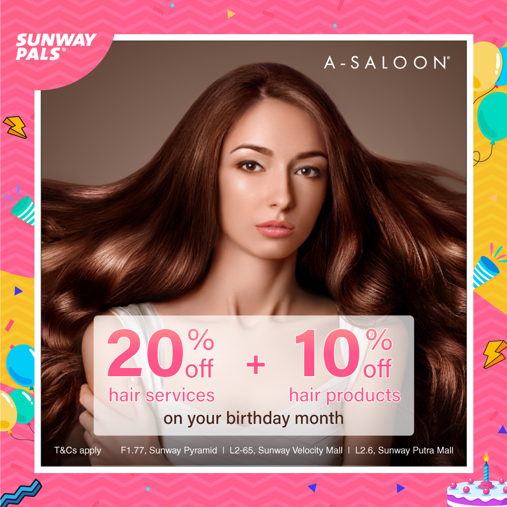 20% off hair services and 10% off on hair products