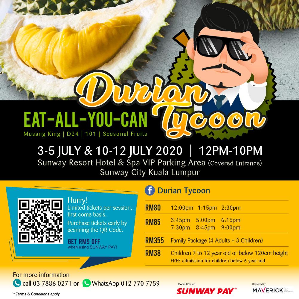 RM5 OFF Durian Buffet