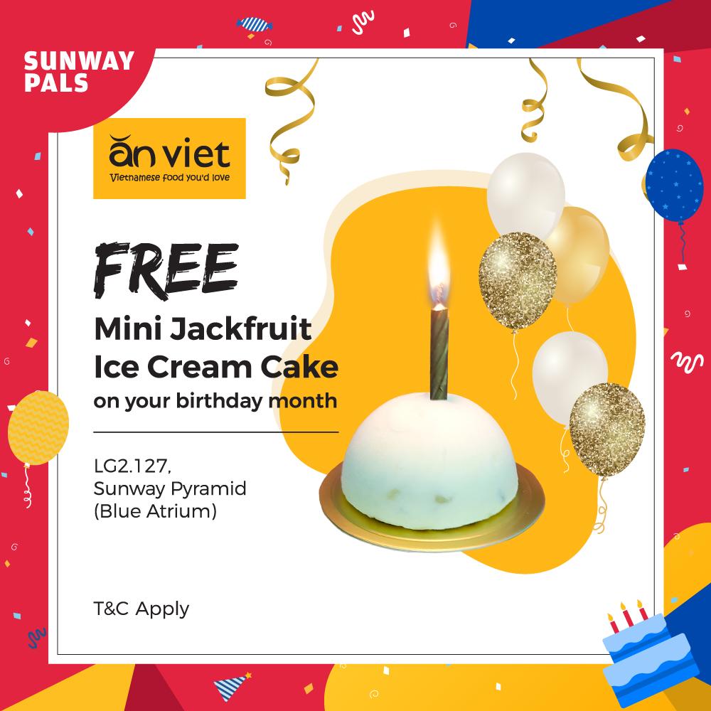Free Mini Jackfruit Ice Cream Cake