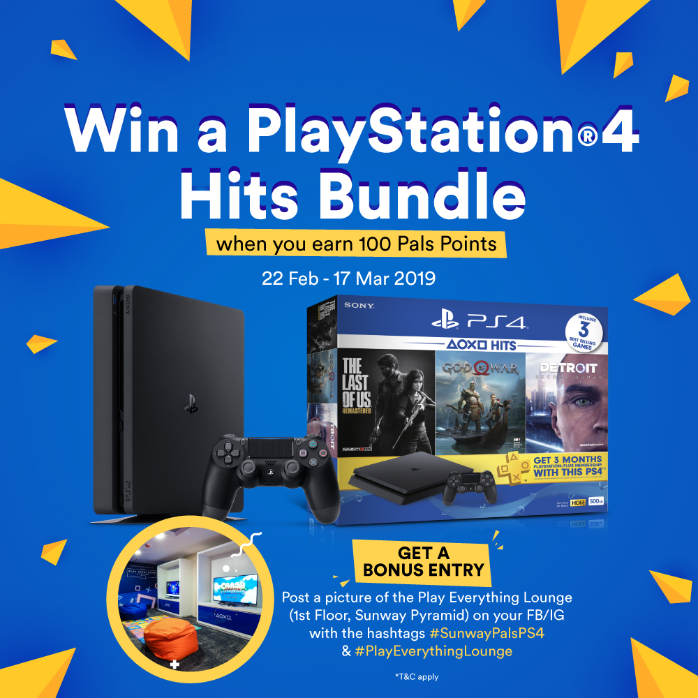 Win a PlayStation®4 and get your game on!
