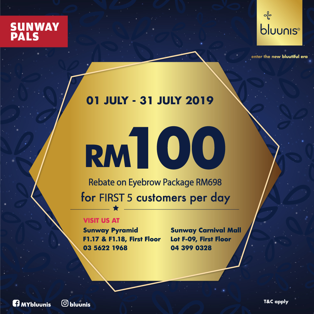 RM100 Rebate on Eyebrow Embroidery Package