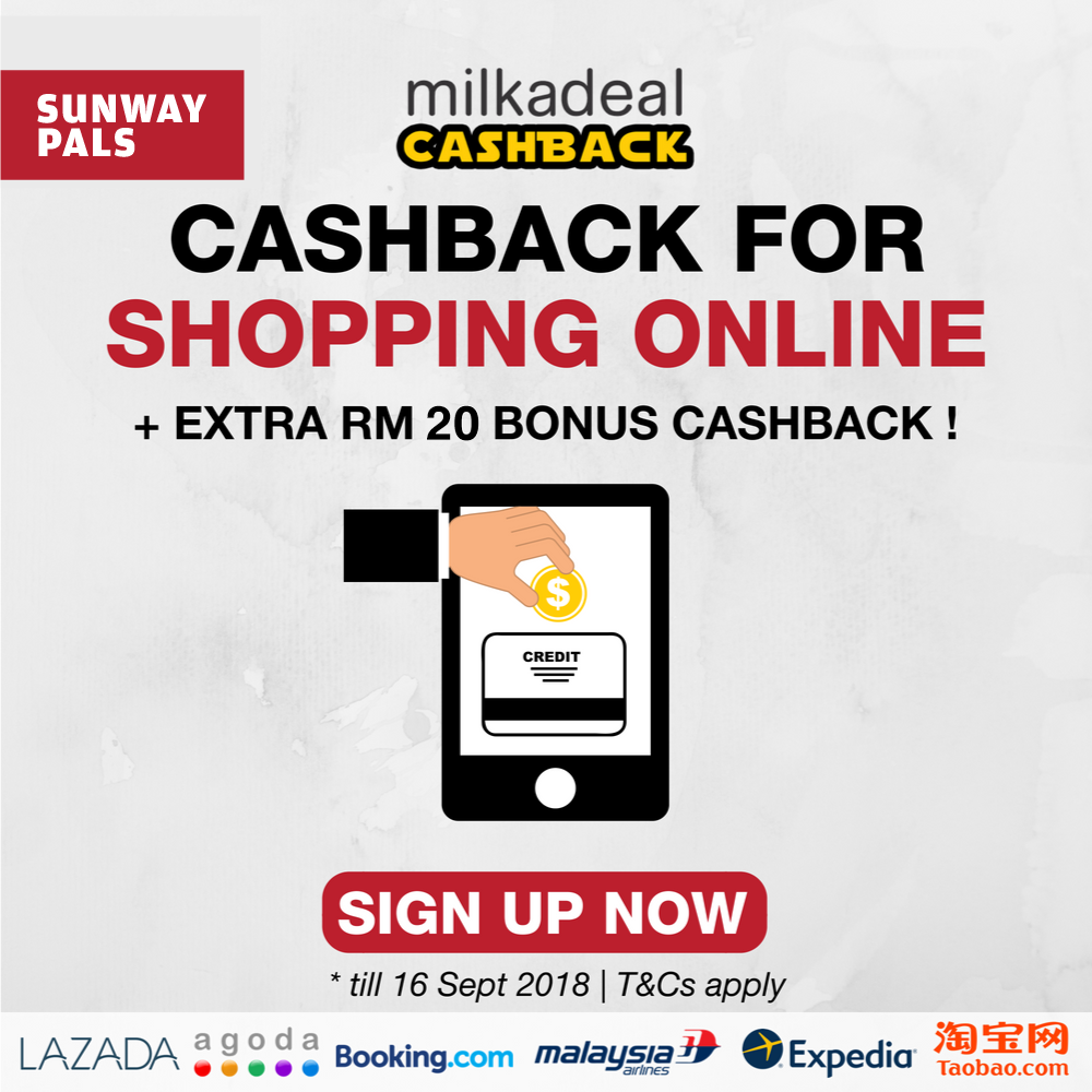 MilkADeal RM20 bonus cashback
