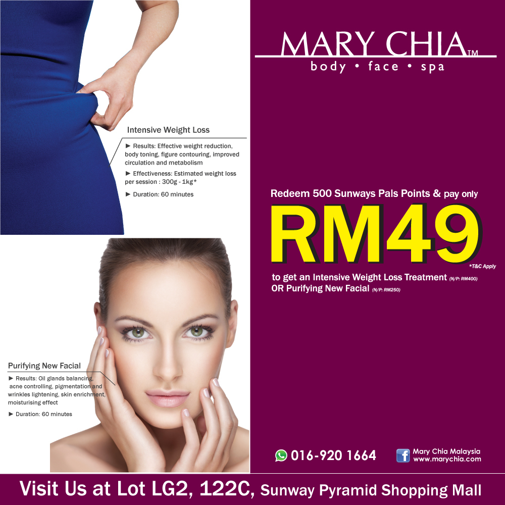 Redeem your Sunway Pals points with Mary Chia